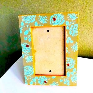 Picture Frame -Shabby Chic -Boho -Floral Turquoise